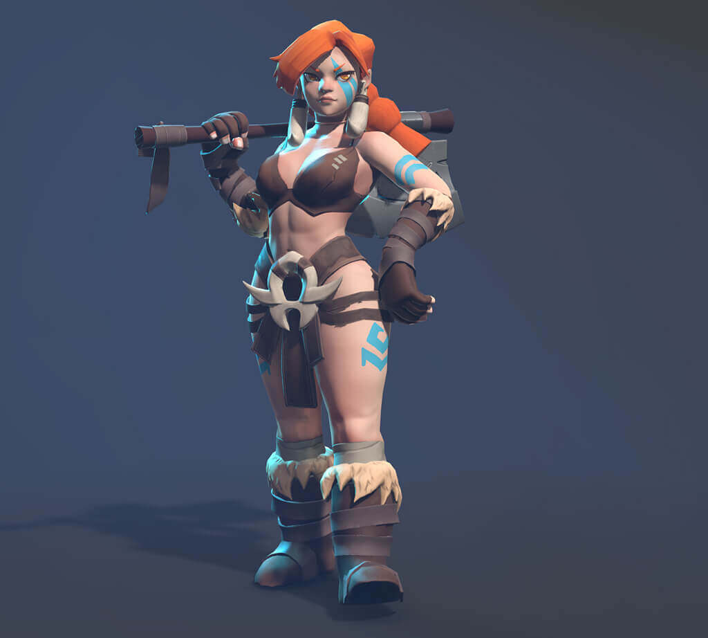 Posed Female Barbarian